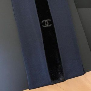 New CHANEL navy/black tights S NIB